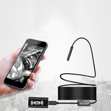 2M WIFI Endoscope Camera HD 1200P 8mm 8 LED Mini Waterproof Hard Cable Inspection Camera Borescope For Iphone PC IOS kerui wifi endoscope camera hd 1200p 8mm waterproof soft hard cable inspection mini camera for ios android windows endoscope