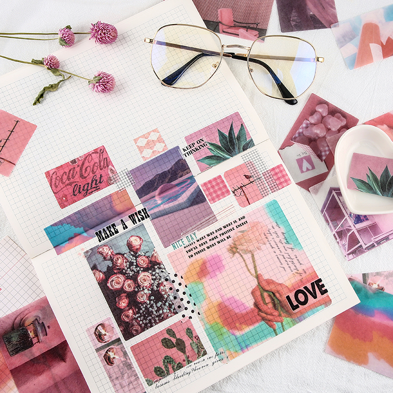 Купить с кэшбэком 70pcs Multi-flavor Life Series Stickers Daily Life Scrapbook Paper Deco Cute Girl Fashion Stationary Sticker Scrapbooking