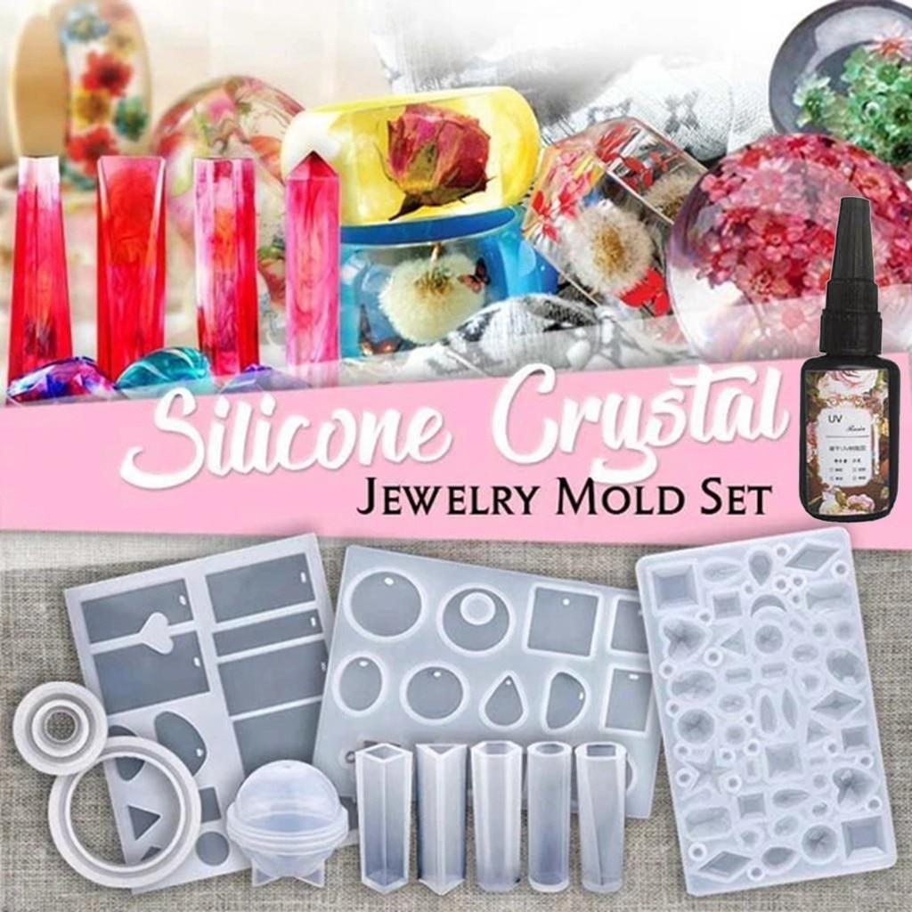 83 diy jóias fundição molde conjuntos de ferramentas mais silicone jóias resina brinco moldes para casa design diy ferramentas # yl10