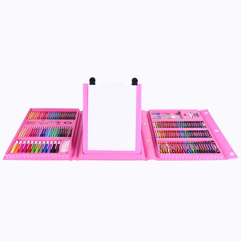 HOT-176Pcs Creative Painting Graffiti Paint Brush Set Fashion Children Daily Entertainment Toy Art Sets With Easel Gift For Kids