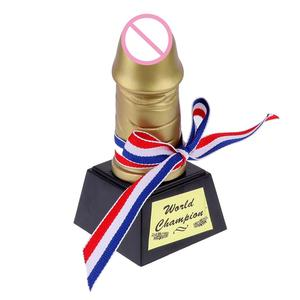 Creative Penis Trophy Novelty Golden Birthday Gifts Hen Stag Party Trophy Funny Prop Toys Unique Bachelorette Party Accessories