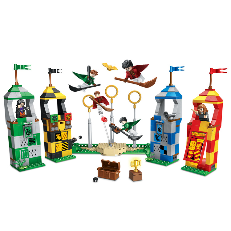 536pcs Harri Figures Compatible With Legoinglys 75956 Building Blocks Brick Toys For Children Harri Movie Magic Quidditchs Match