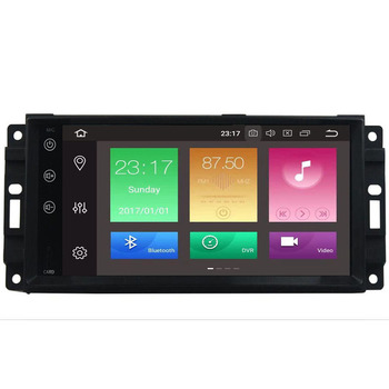 Car Monitor DVD Player For Wrangler Compass Grand Cherokee 2008-2011 With GPS Navigation Multimedia radio steering wheel BT DVR image