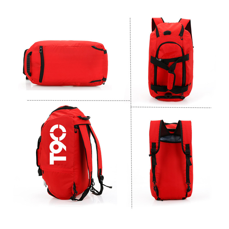 Image 2 - 2019 New T90 Men Sport Gym Bag Women Outdoor Gym Fitness Bags Separate Space for Shoes Pouch Rucksack Hide BackpackGym Bags   -