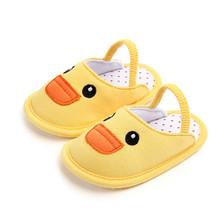 0-12M łóżeczko dziecięce buty pantofle bawełna noworodka Baby Boy dziewczyna miękka podeszwa bawełny pantofel szopka buty antypoślizgowe dla dzieci buty 3E25 tanie tanio Unisex Drukuj Pasuje prawda na wymiar weź swój normalny rozmiar Cotton Fabric