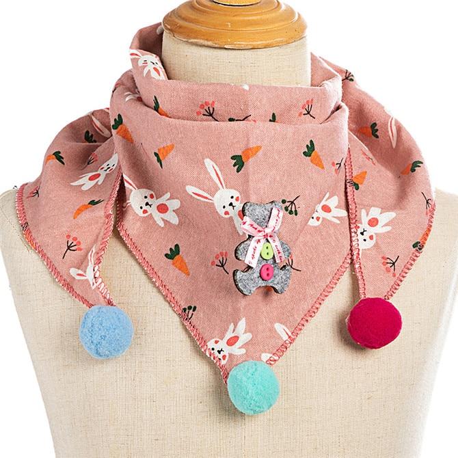 Весенние клетчатые треугольные шарфы в горошек для маленьких девочек; осенне-зимняя шаль для мальчиков и девочек; Детские хлопковые воротники; теплый детский шейный платок - Цвет: C8