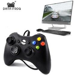 البيانات الضفدع الأسود والأبيض السلكية الاهتزاز غمبد مع كابل يو اس بي أذرع التحكم في ألعاب الفيديو المقود ل ألعاب الكمبيوتر جودة عالية