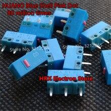 10 pçs huano azul casca rosa dot mouse micro interruptor botão vida de 80 milhões