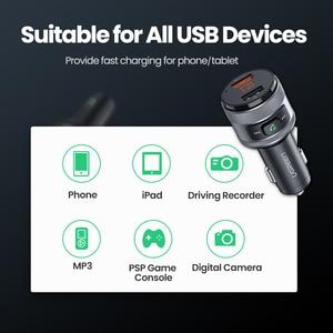 Image 5 - UGREEN USB chargeur de voiture FM transmetteur rapide 3.0 Charge chargeur rapide pour Xiaomi Samsung iPhone Huawei QC3.0 chargeur de voiture