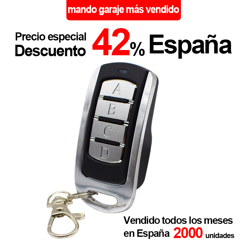 Garage Door Remote Control For 433mhz Garage Command 868MHz Garage Door Opener Rolling Code Fixed Code Transmitter Controller