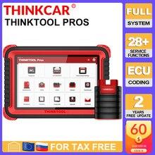 """Thinkcar thinktool prós ferramenta de diagnóstico automático 10 """"sistema completo adas obd2 scanner código 28 função redefinir programa em linha pk x431 v +"""