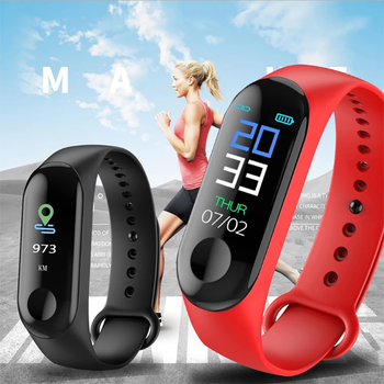 AmylingG M3 Bluetooth Sport Smart Watch Men Women Smartwatch For Android IOS Fitness Tracker Electronics Smart Clock Band image