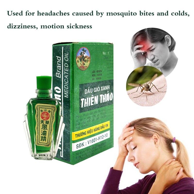 100% Vietnam Balm Refreshing Oil 12ml For Headache Dizziness Medicinal Oil Pain Rheumatism Abdominal Pain Fengyoujing