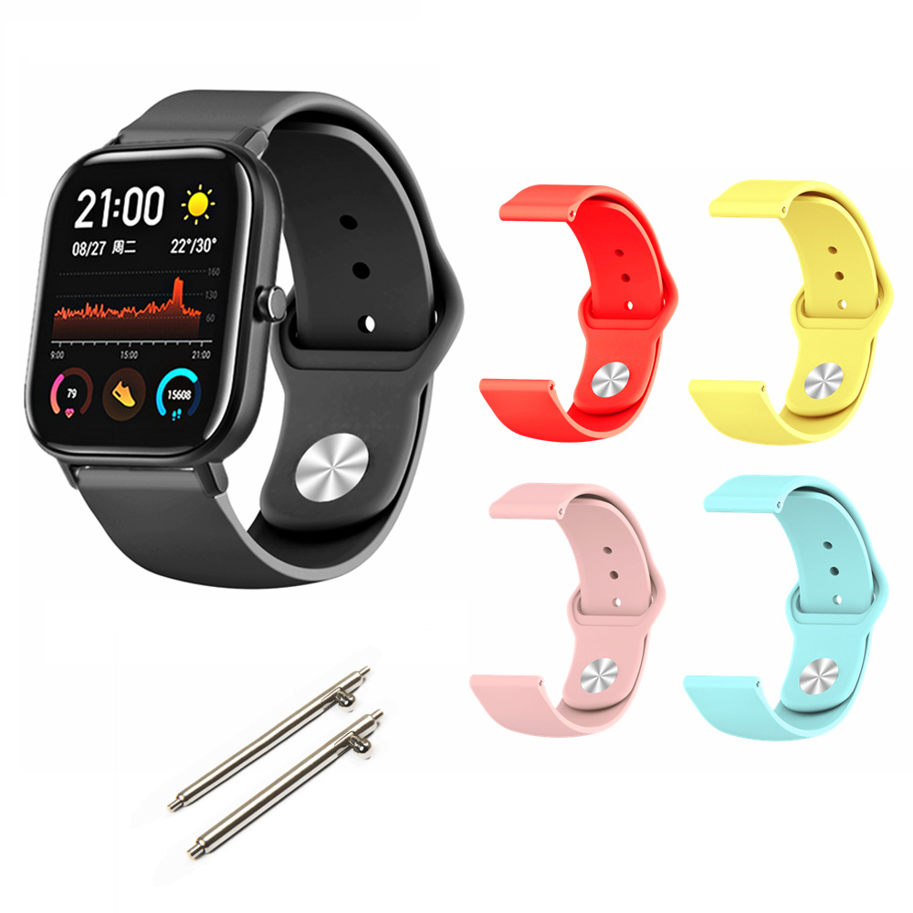 For Xiaomi Huami Amazfit GTS Bracelet Watch Strap Amazfit Bip Watchband Amazfit GTR 42mm Silicone Band 20mm Width