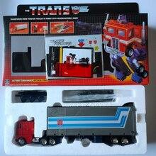 Деформированная Оптимус Прайм с металлической головкой G1 Реплика OP red Optimus Prime KO версия лидер модель игрушка