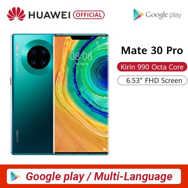 Smartphone à écran d'origine Huawei Mate 30 Pro 6.53 ''Kirin 990 Triple caméras 40MP caméra frontale 32MP prise en charge multilingue