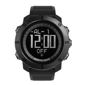 Image 3 - NORTH EDGE hommes sport montre numérique heures pour la course à pied natation armée militaire montres résistant à leau 50m chronomètre minuteur