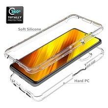 Мягкий силиконовый прозрачный чехол для Xiaomi Note 10 Pro 10T Lite POCO X3 NFC K30S CC9 9 8 SE F1 6X 5X A1 A2 Mix с полной защитой корпуса, 360