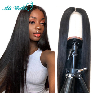 Ali Grace Straight Frontal Wigs for Women 360 Lace Front Human Hair Wigs Natural Hair Color Brazilian Straight Lace Frontal Wigs(China)