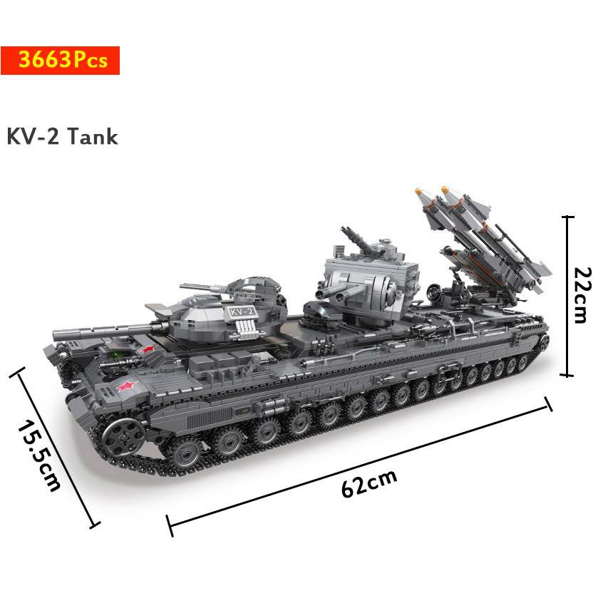 3663Pcs XINGBAO Building Blocks легоe tank 06006 Moc KV-2 Tank tank Children Toy Bricks Tank Model Children Gift Christmas Gift 1