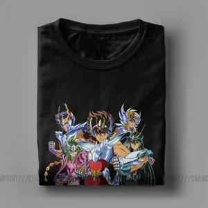 Image 5 - Männer der Saint Seiya T Shirts Ritter von die Sternzeichen Saint Seiya 90s Anime Reine Baumwolle Kurzarm T shirt Sommer T Shirt