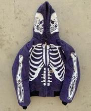 2021biggorange plus size street hip-hop skull long-sleeved cotton ladies hooded jacket new flower hooded jacket