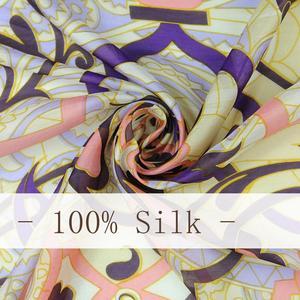 Image 5 - 2020 New Silk Luxury Brand Bandana Scarf Women Fashion Designer Shawls And Scarves Hijab Foulard Femme Pashmina