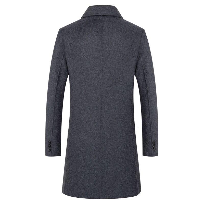 Nouveau manteau en laine pour hommes manteau automne cachemire manteau en laine d'hiver manteau en laine pour hommes d'âge moyen - 2