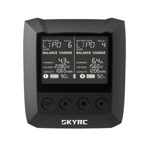 SKYRC B6 nano DUO 2X100W 15A AC bluetooth умное зарядное устройство с поддержкой SkyCharger APP для радиоуправляемых моделей дронов