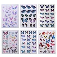 6 шт серьги подвески в форме крыльев бабочки стрекозы