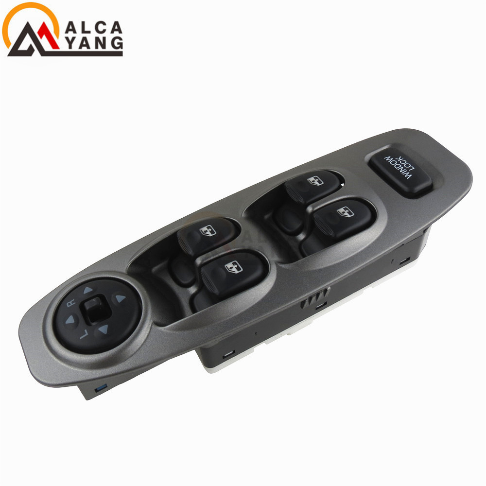 Grey With Rearview Mirror Master Electric Power Window Left Front Driver Door Switch 93570-25000 For Hyundai Accent 2000 2005(China)