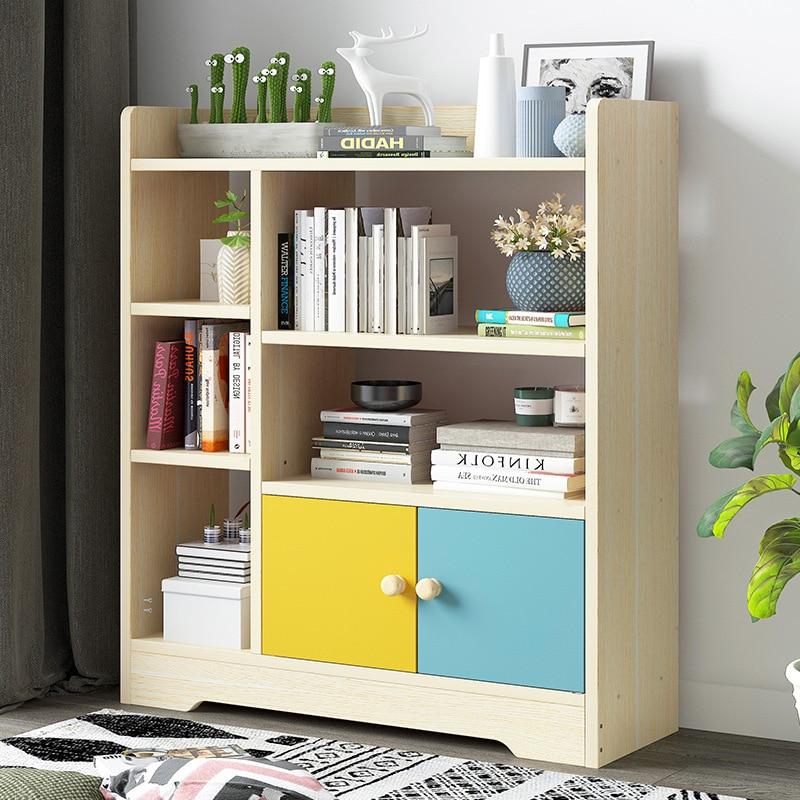 Bookshelf Simplicity Floor Bookcase Modern Minimalist Storage Rack Creative Cabinet Living Room Library