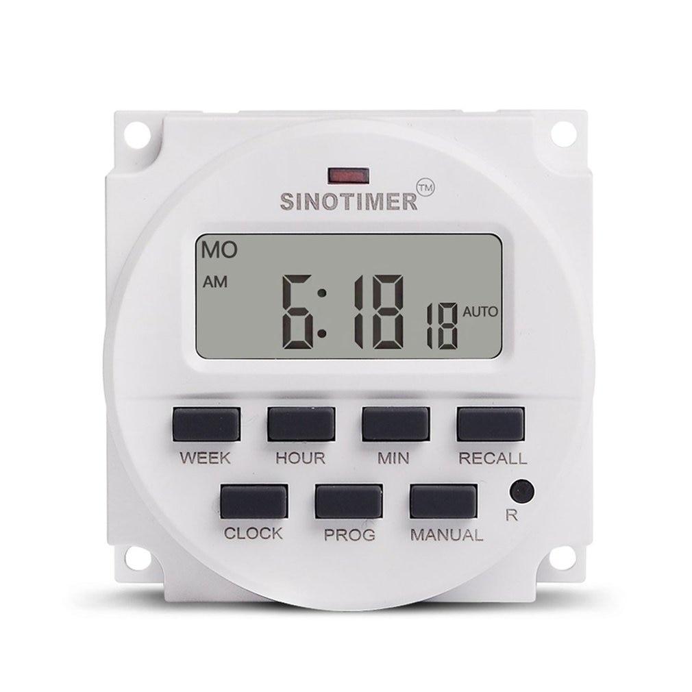 Rel/é de tiempo programable Tres fases Control digital inteligente semanal programable Interruptor del temporizador de potencia 380V