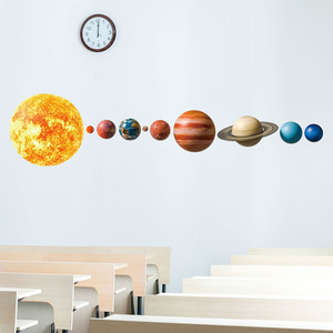 Solar System Planets Wall Stickers for Kids Room Living Room Home Decoration Wall Decal Home Decor Baby Nursery Wall Decoration(China)