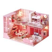 Миниатюрный Кукольный домик «сделай сам» светильник Деревянный