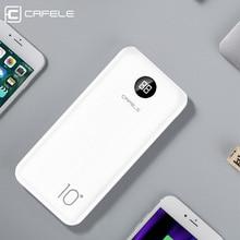 CAFELE внешний аккумулятор, 10000 мА/ч, двойная портативная быстрая зарядка, 10000 мА/ч, внешний аккумулятор для iPhone X, Xiaomi Mi, 9, huawei, внешняя батарея