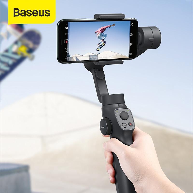 Top SaleBaseus Selfie-Stick Gimbal-Stabilizer Action Camera Outdoor-Holder Handheld iPhone Pull--Zoom