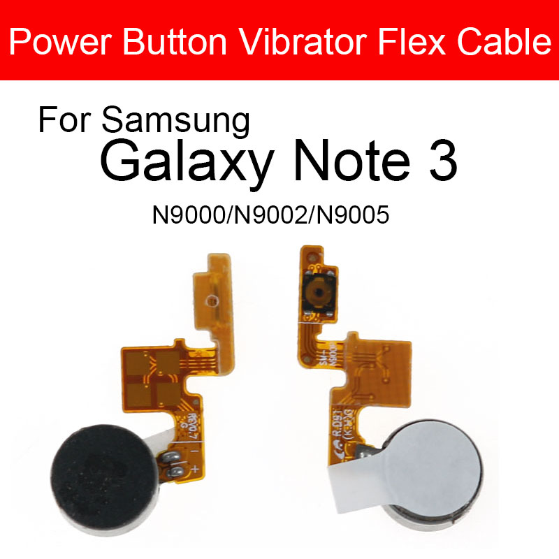 Power With Vibrator Flex Cable For Samsung Galaxy Note 3 III N9000 N9002 N9005 On Off Button Switch Control Side Key Flex Cable