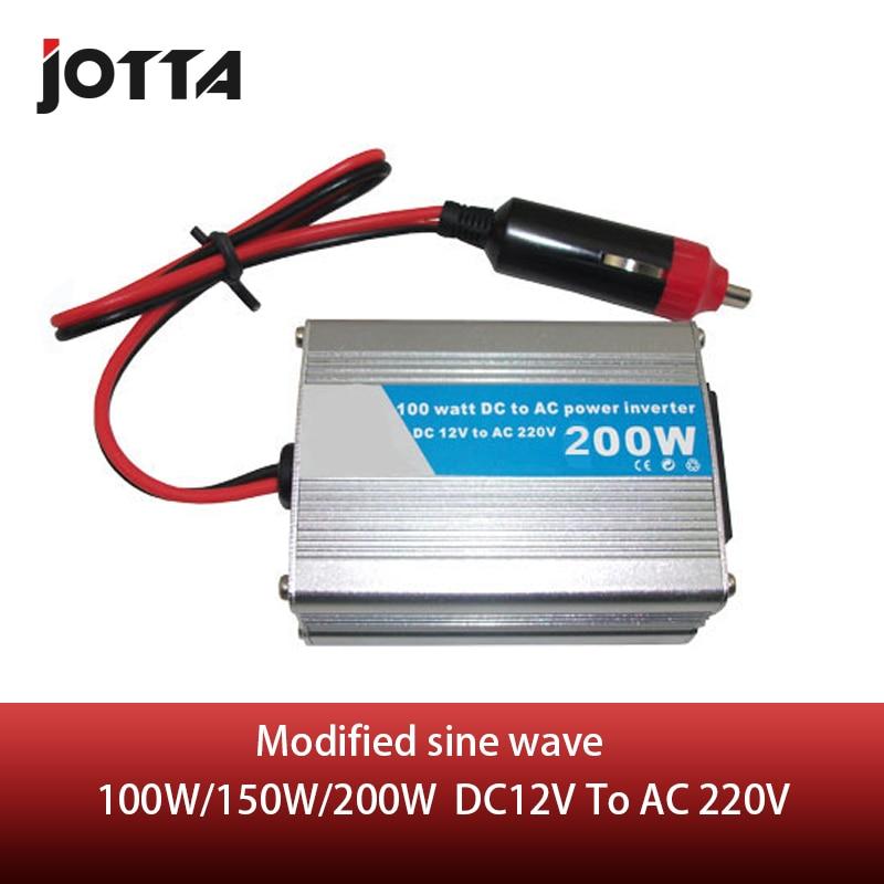100 Вт/150 Вт/200 Вт DC 12 В к AC 220 В модифицированная Синусоидальная волна портативный автомобильный инвертор адаптер зарядное устройство преобра...