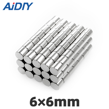 20/50Pcs 6×6mm Neodymium Magnet 6mm × Round N35 Mini Small Super Strong Rare Earth Magnetic Magnets Bulk Disc 6*6mm