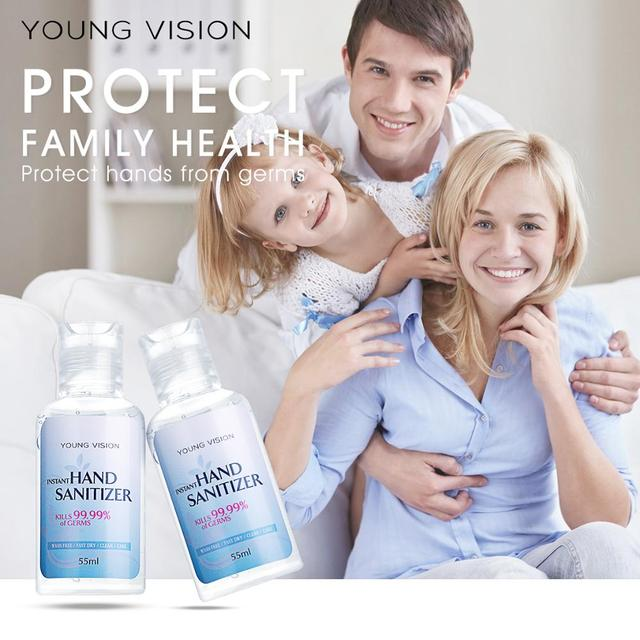 YOUNG VISION 55ml Travel Portable Hand Sanitizer Gel Anti-Bacteria Liquid Disposable No Clean Waterless Antibacterial Hand Gel 1