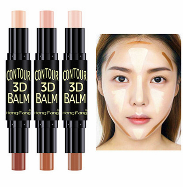 1 pcs Double-ended Eye 3D Concealer Stick Face Foundation Creamy 2 in1 Contour Pen Stick Shimmer Professional Cosmetic Facial image