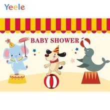 Photophone Circus Party Elephant Bear Tent Animal Photography Backdrop Newborn Baby Shower Background Photo Studio Photocall