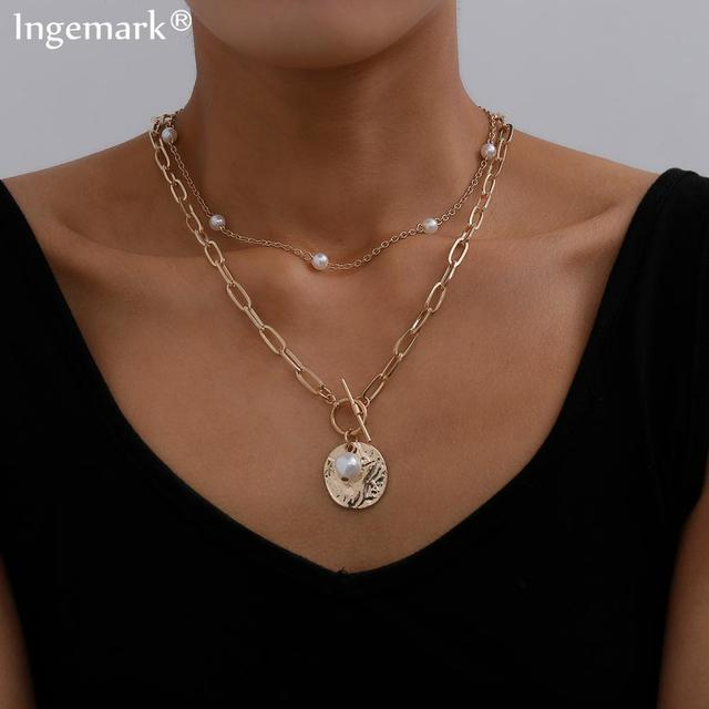 pearl and bar lock necklace 1