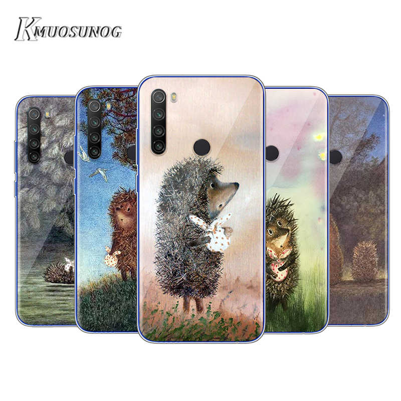 Transparent Silicone Cover Hedgehog in the Fog For Xiaomi Redmi Note 9 9S Max 8T 8 7 6 5 Pro 5A 4X 4 Phone soft Case