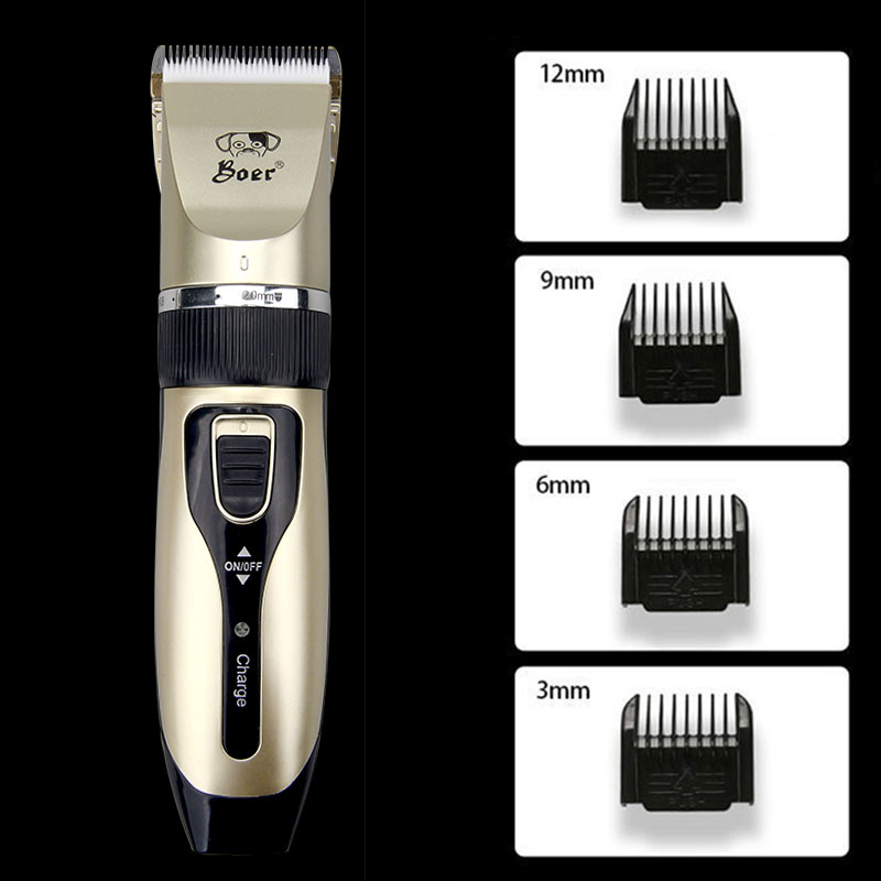 Cordless Electrical Pet Hair Trimmer - Dog Cat Grooming Set