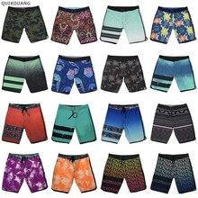 Пляжные шорты для мужчин, мужские бермуды, шорты из спандекса, камуфляжные, пляжные, быстросохнущие, водонепроницаемые, повседневные, неско...