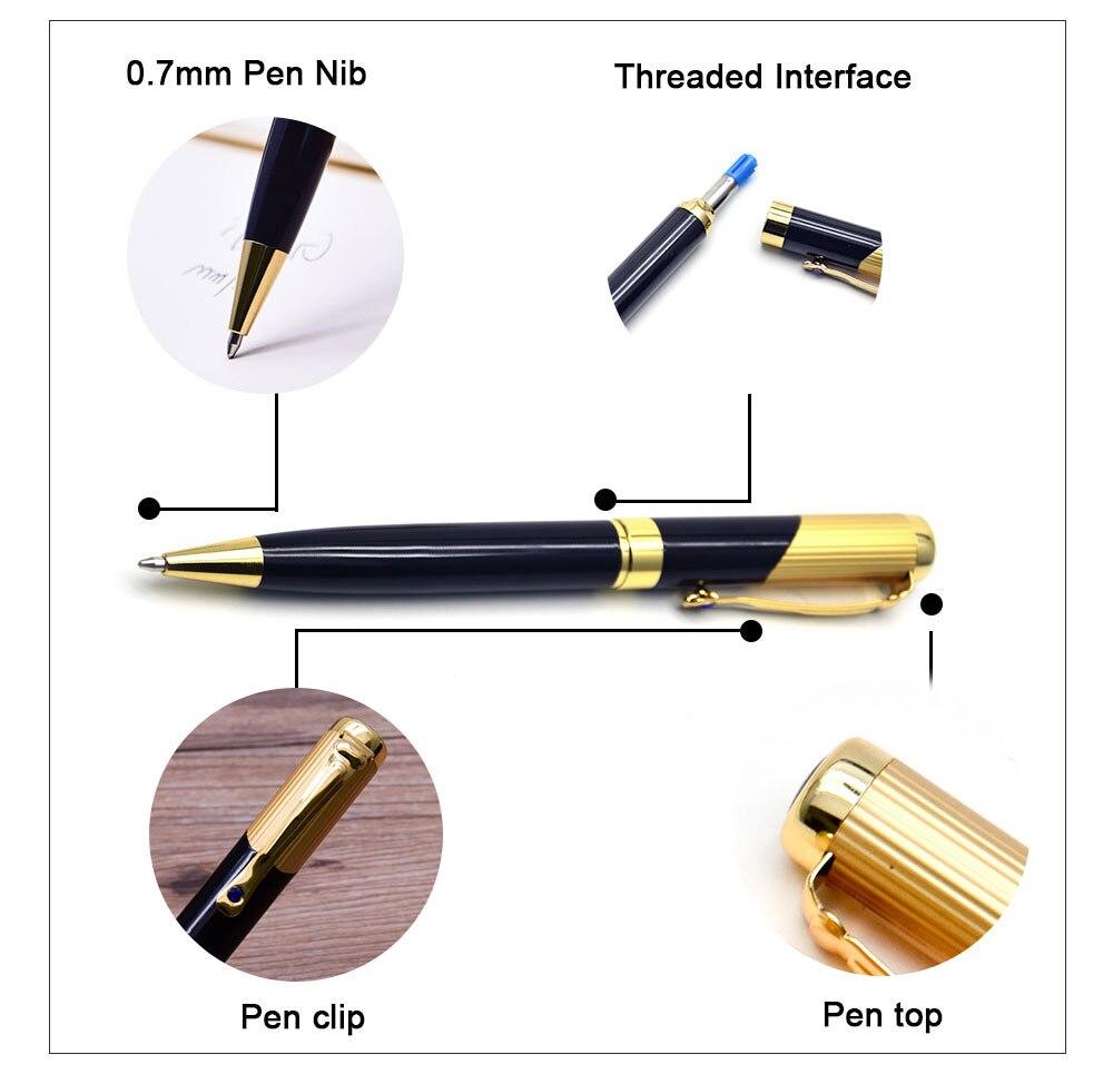 Guoyi D28 Fancy Metal Ballpoint Pen 0.7mm Nib Learning Office for School