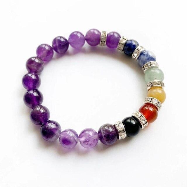 Bracelet 7 Chakra Amethyst
