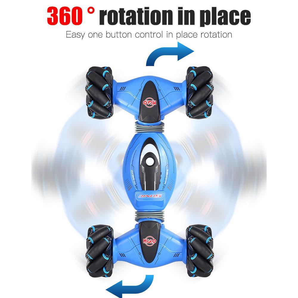 2,4 GHz 4WD RC автомобильный датчик жестов, часы, управление, двухсторонние трюковые автомобили, Внедорожные багги, игрушки, высокая скорость, скалолазание, RC автомобиль, детские игрушки - 4